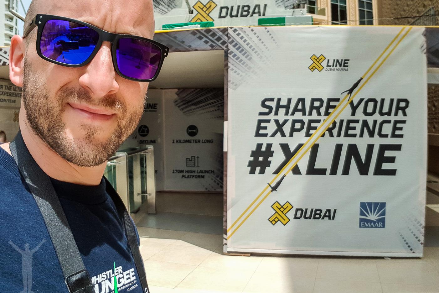 Zipline i Dubai Marina