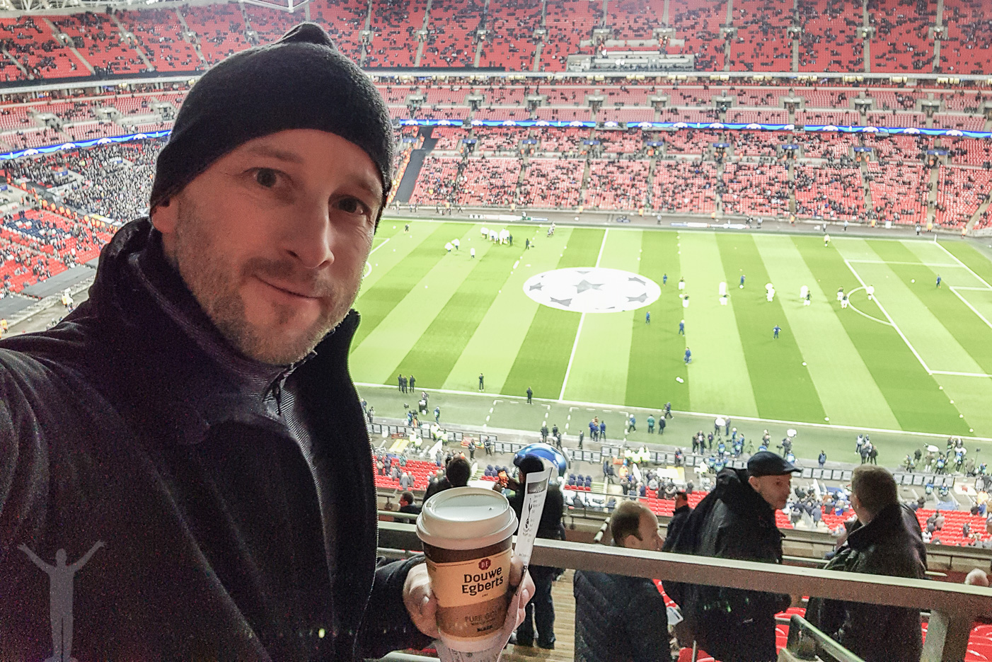 Fotbollsmatch på Wembley