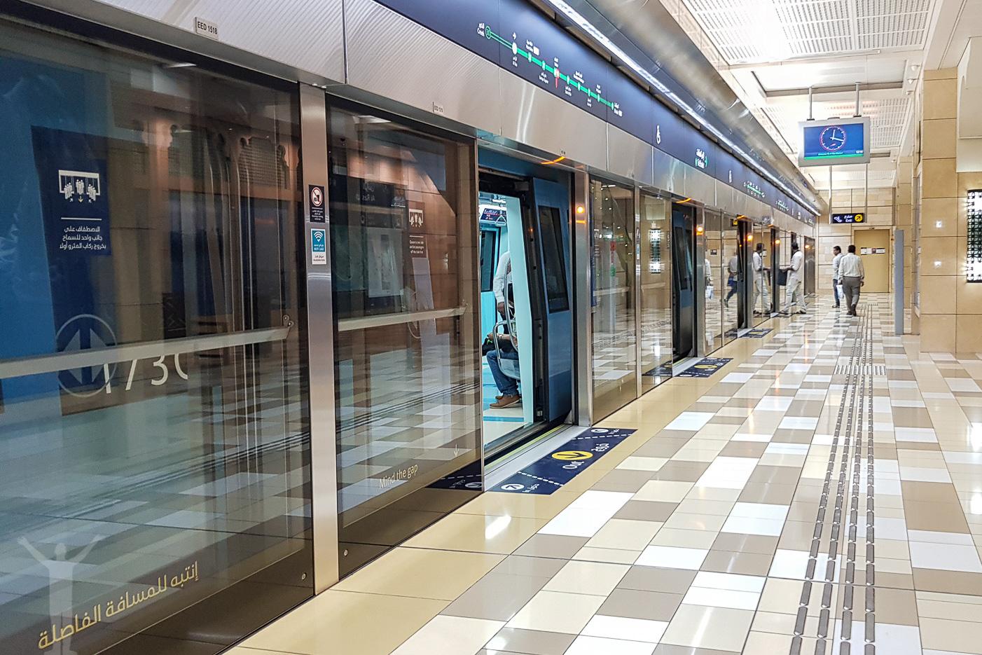 Tunnelbanestation i Dubai
