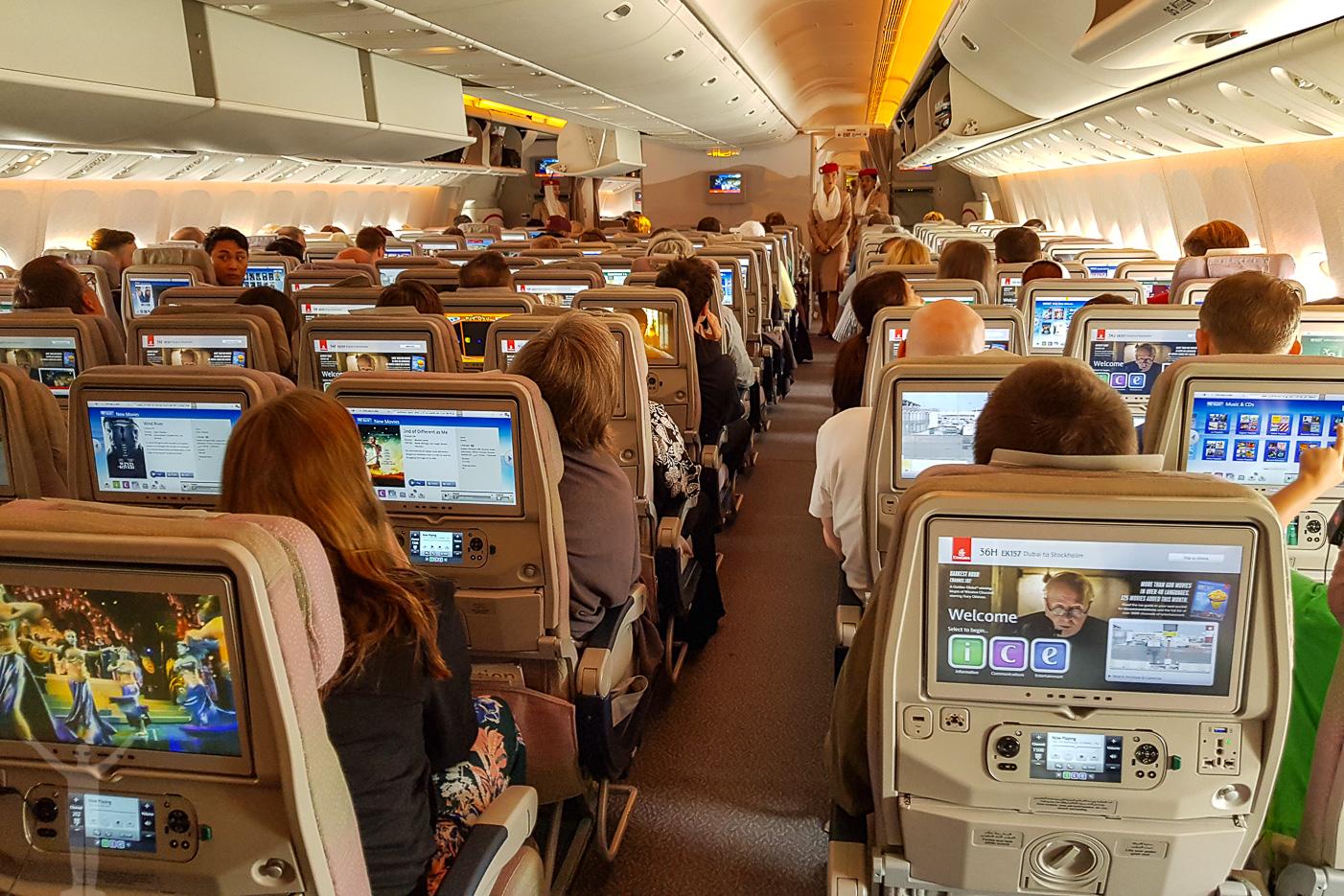 Ekonomiklass hos Emirates