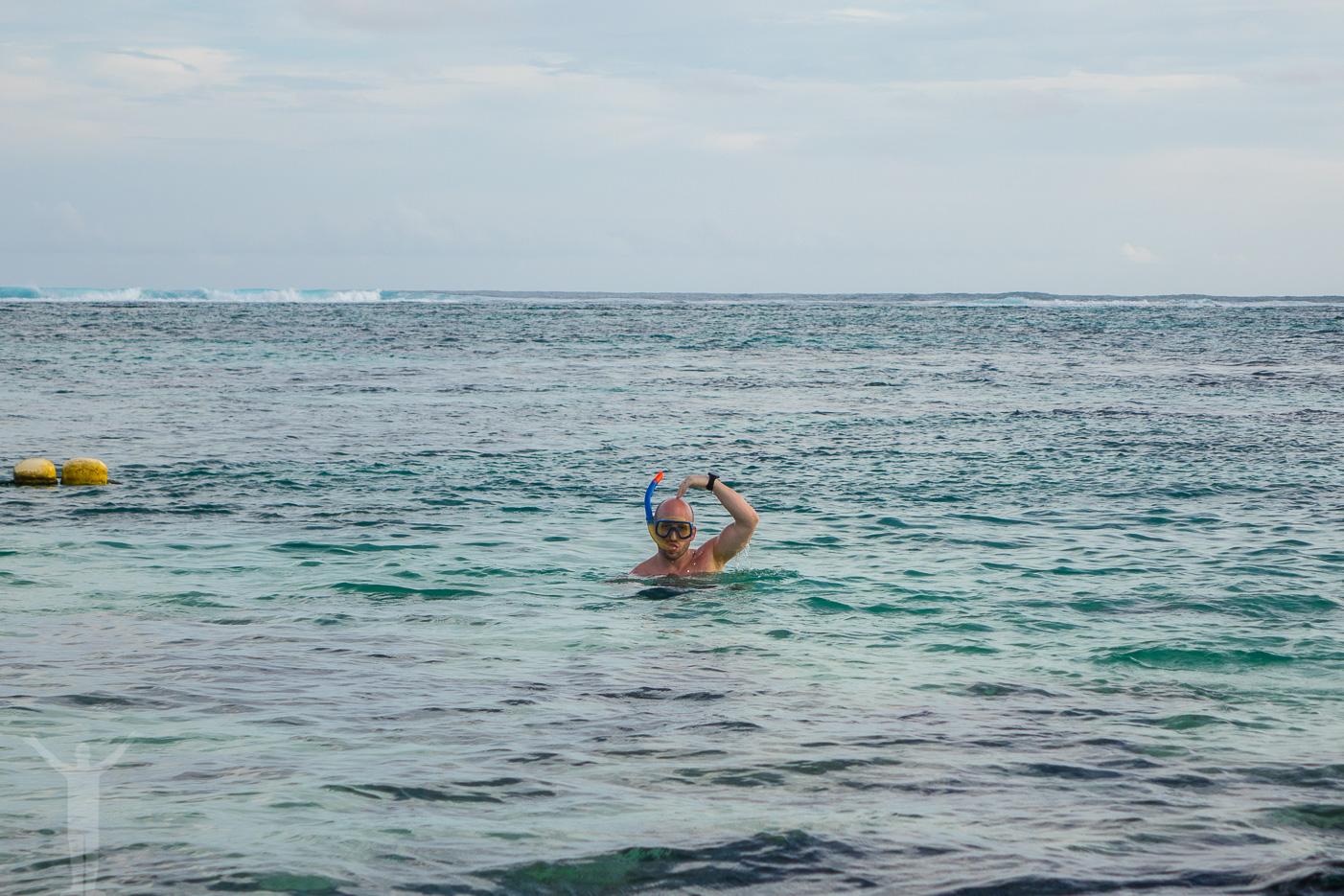 Snorkling på Mauritius