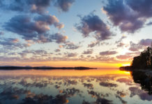 Solnedgång på Andersön, Jämtland