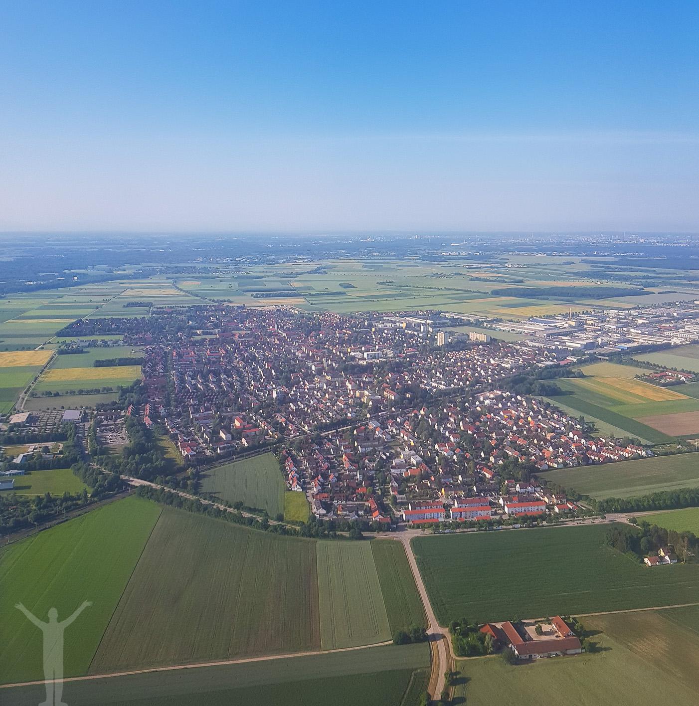 Landning i München