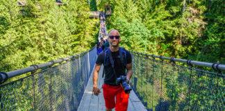 Jag själv på Capilano Suspension Bridge