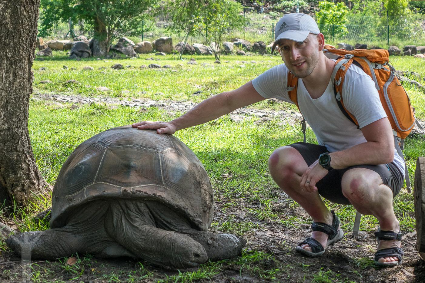 Jag själv och en jättesköldpadda