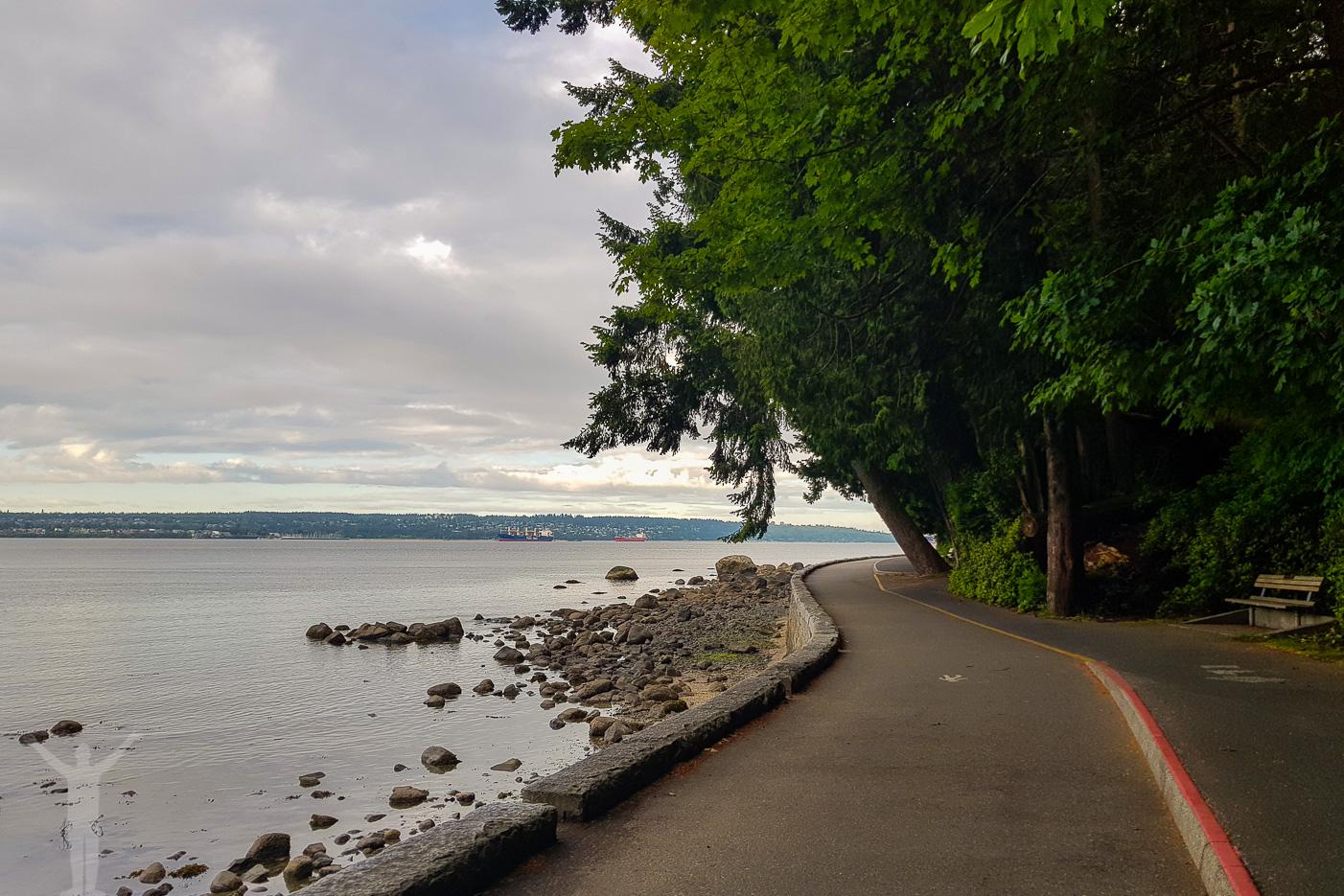 En tidig morgonjogg i Vancouver - i typiskt turisttempo.
