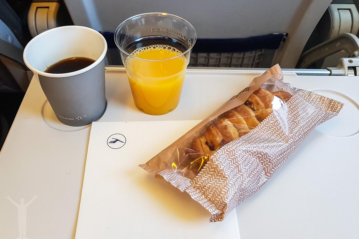 Lufthansas frukost på korta flygningar