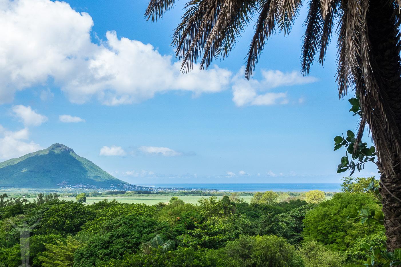 Utsikt från Casela naturpark på Mauritius