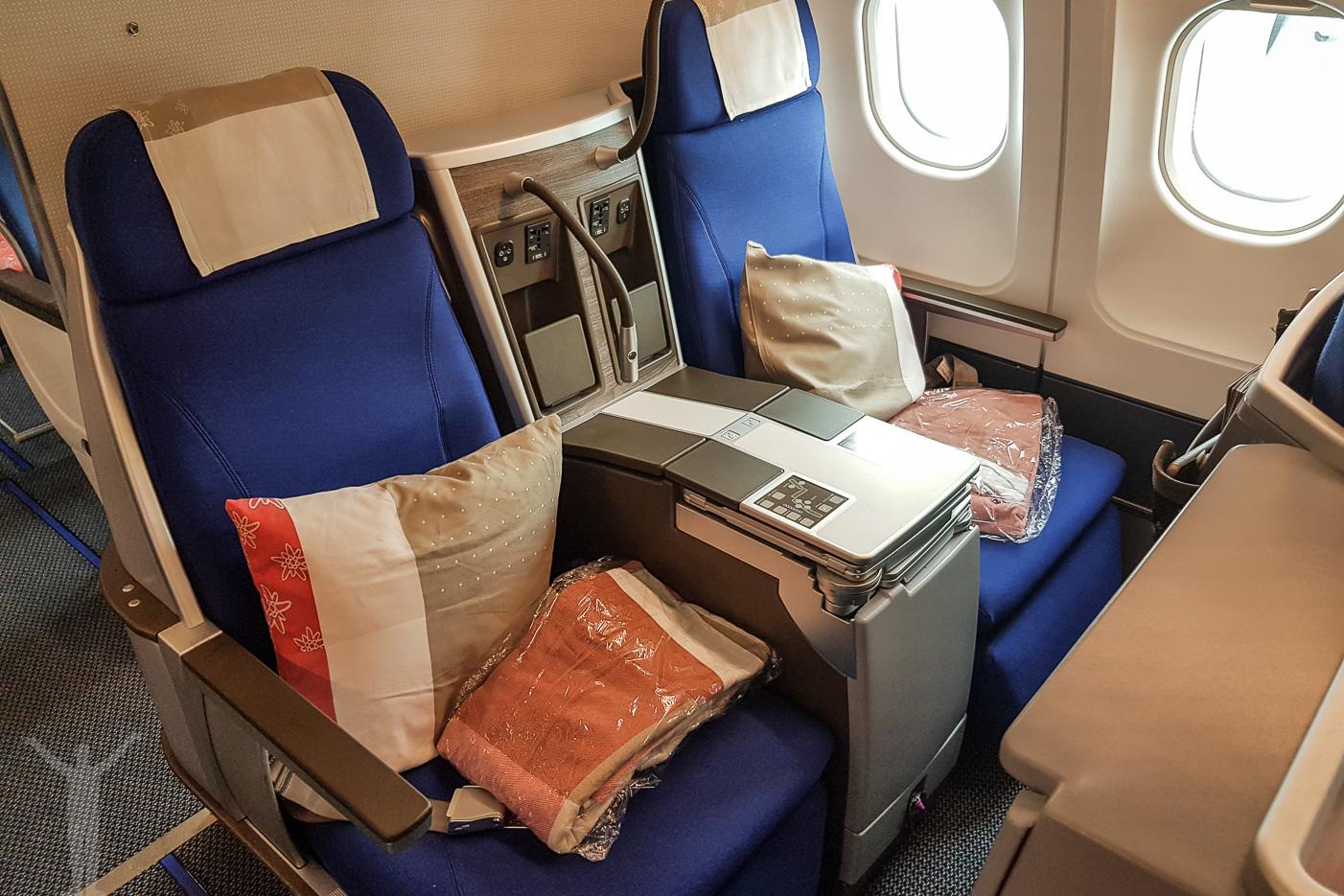 Businessklass på Edelweiss Air A340-313