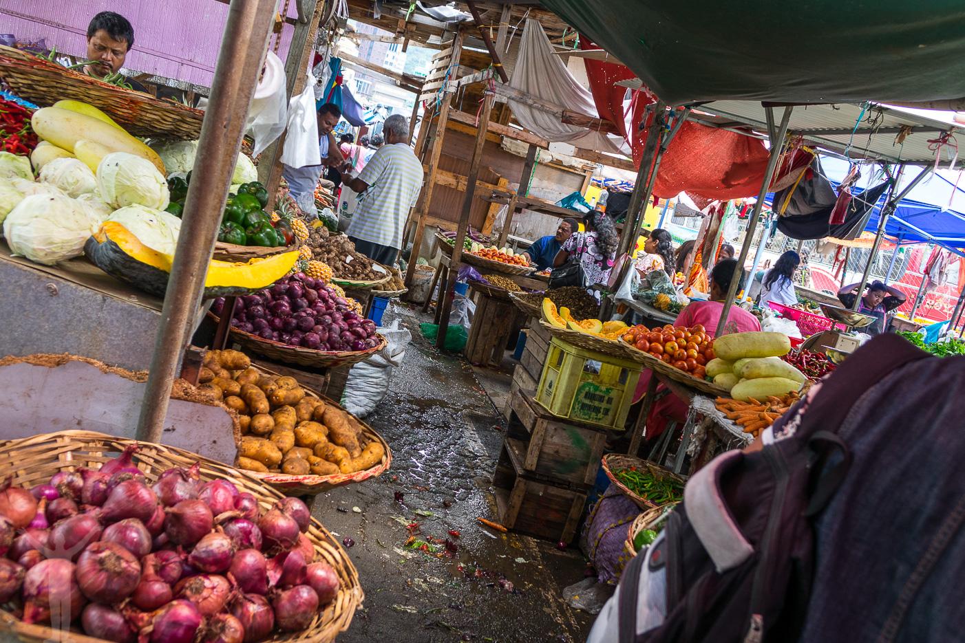 Marknad i Port Louis