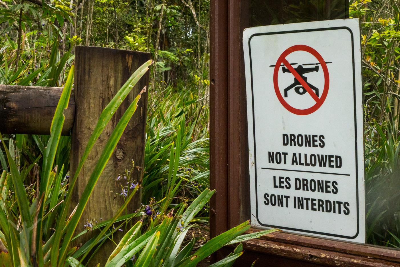 En del ställen har förstått vad drönare kan innebära och infört förbud. Här vid Seven Coloured Earths.
