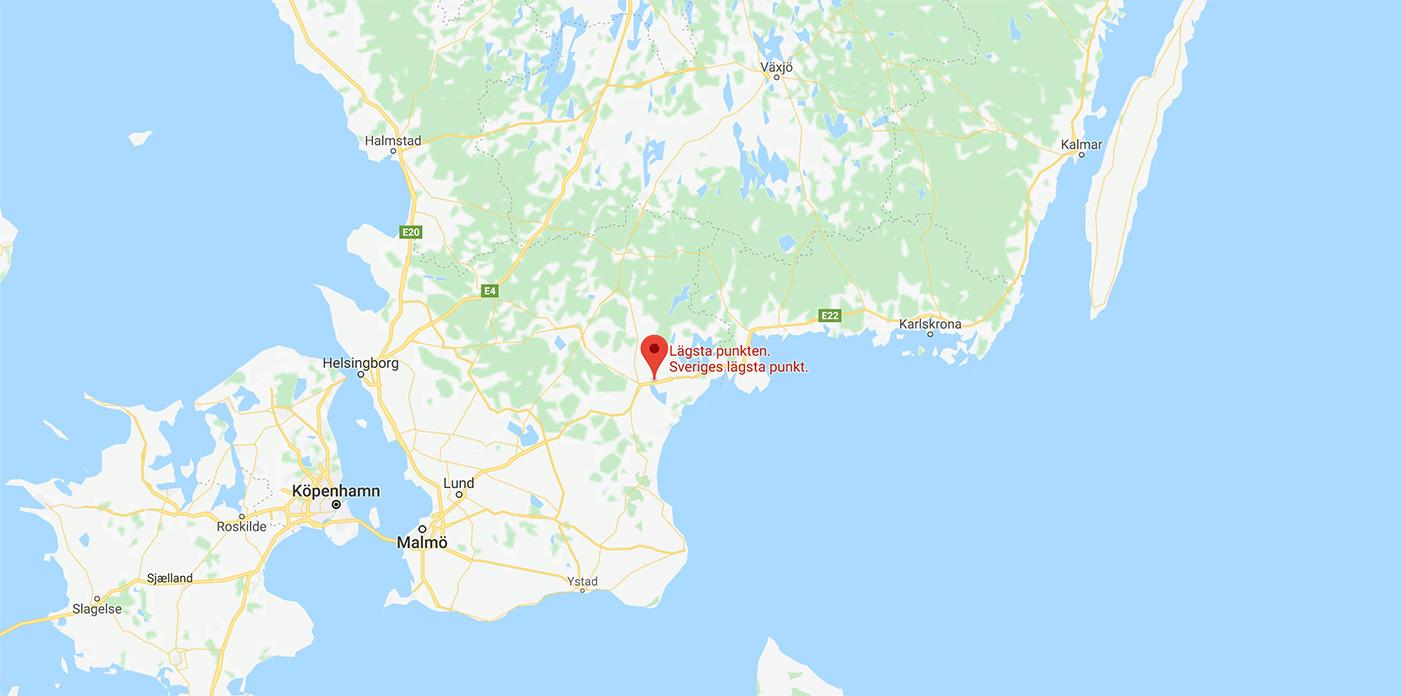Sveriges lägsta punkt
