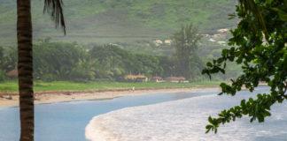 Stranden vid Tamarina var helt klart påverkad av föregående veckas tyfon.