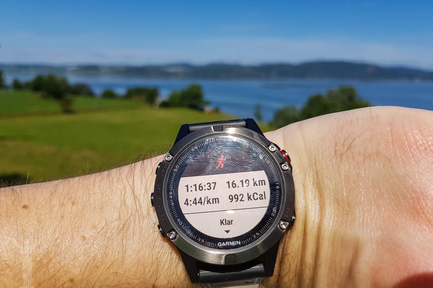 Riktigt fin tid efter dubbelsträckan på 16km