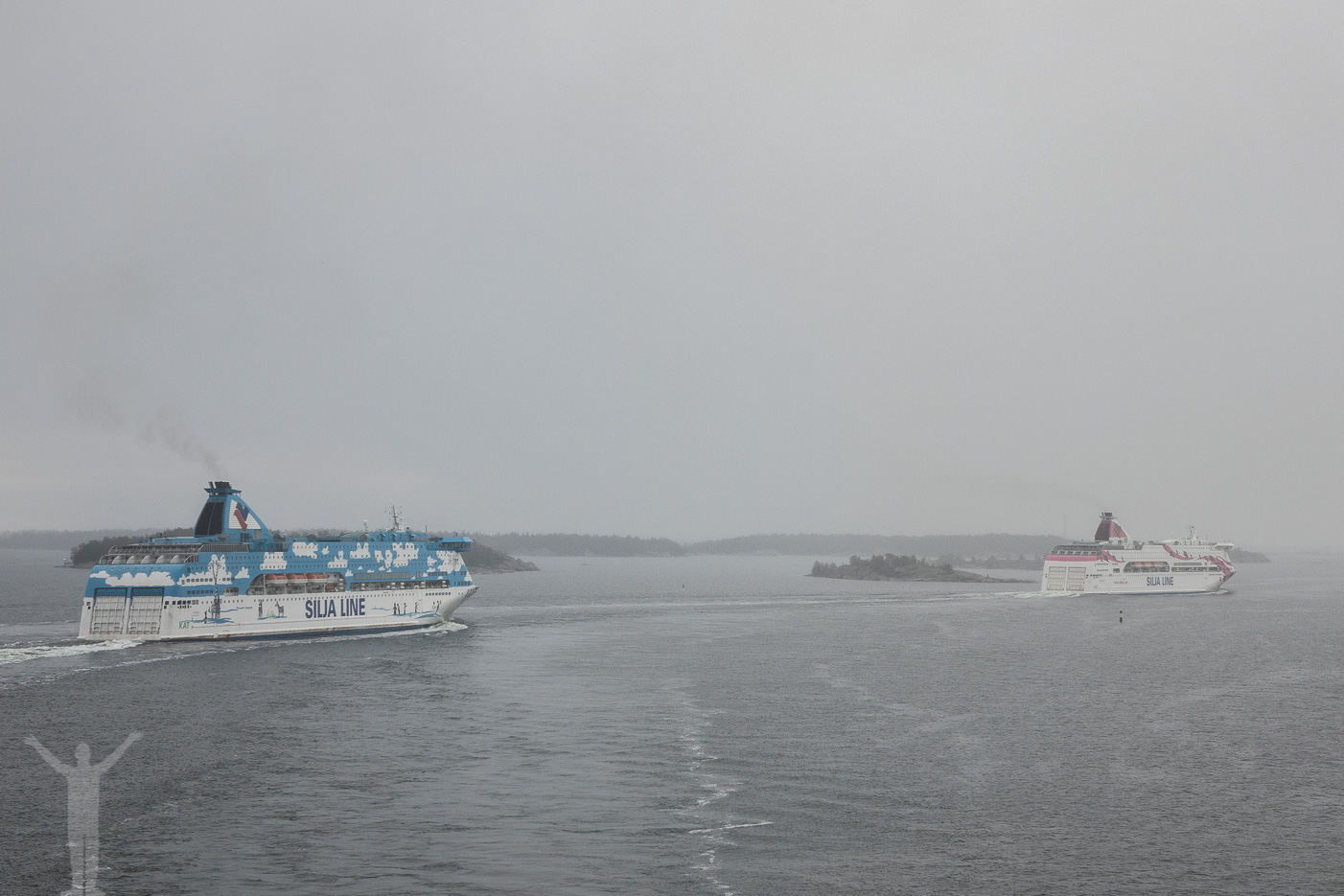 Silja Line Galaxy och Baltic Princess