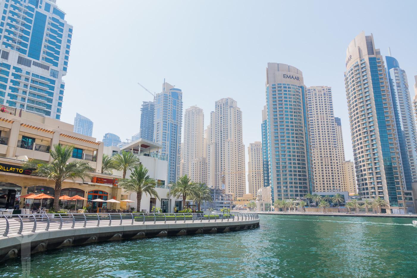Springa i Dubai Marina