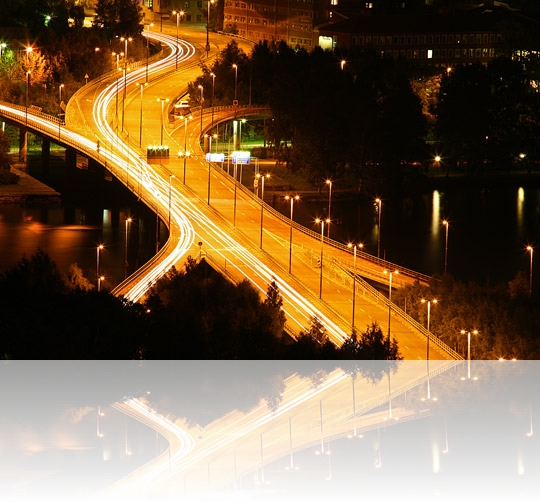 Frösöbron by night