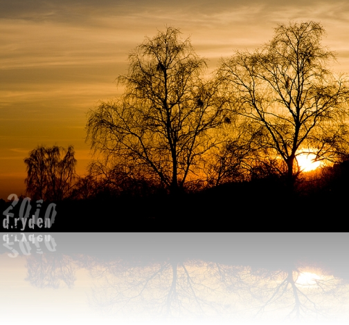Solnedgång bakom Frösön.