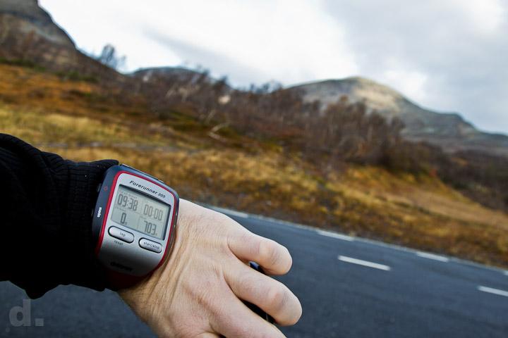 GPS-klockan ska följa oss.