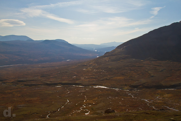Utsikt från Storsnasens sluttningar.