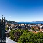 Trondheim från Nidarosdomen
