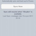 Wifi-synk, inget som är aktiverat i beta 1.