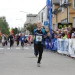 Jag lånar från st-olavsloppet.com. Min målgång i Levanger, dag 1.