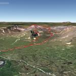 3D-vy av toppturen, från Google Earth