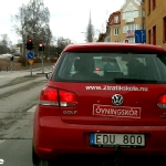 Ny! EDU på en körskolebil.