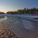 Isen börjar lägga sig