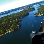 Från Helikoptern, efter lyftet från Vaxholm