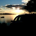 Facebookbilen njuter av en odödlig solnedgång.
