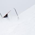 Det har nog gått fel när man bara ser skidorna...