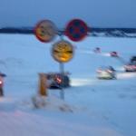 Ice highway. Påfart Vällviken, mot Sunne. Foto: Martin
