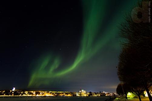 Norrsken över Östersund