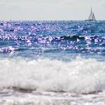 Glittrande havet