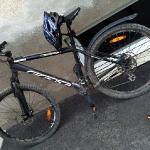 Cykeln efter premiärturen.