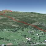 Vandringen i Google Maps, från GPS-klockan.