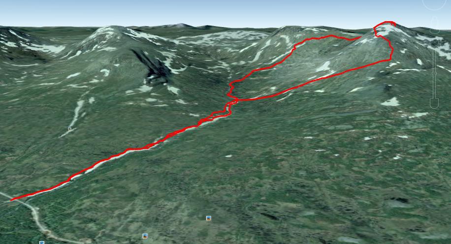 Toppturen i Google Earth.