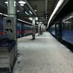 SJ tyckte inte om snön och kylan och försenade mitt tåg.