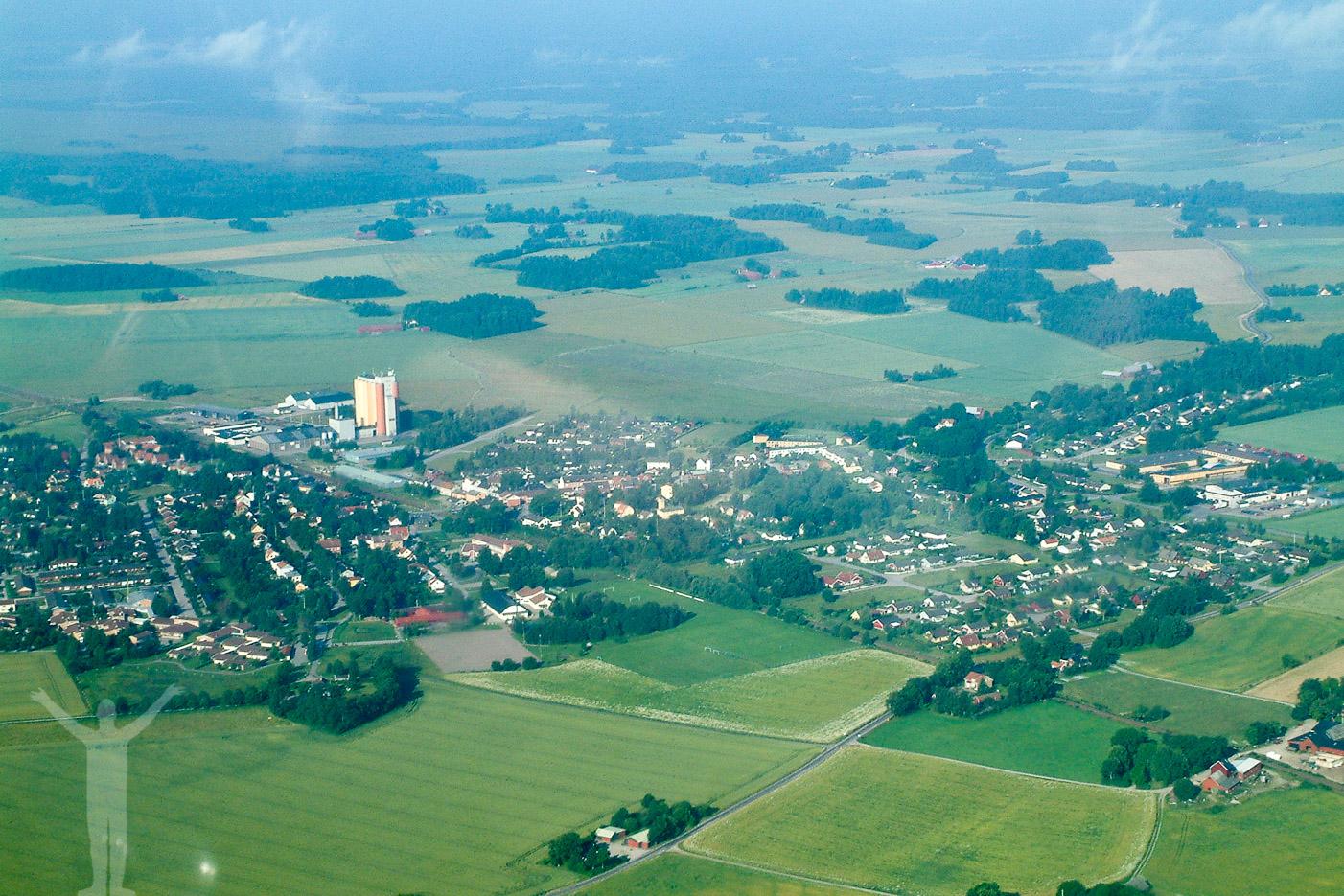 Flygfoto över Brålanda