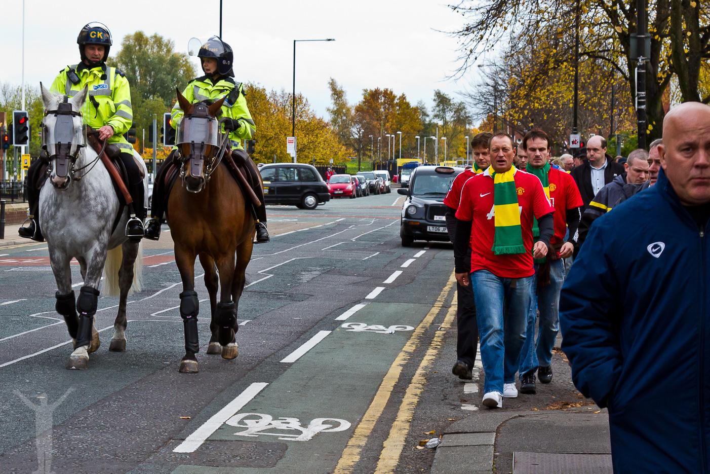 På väg till Old Trafford