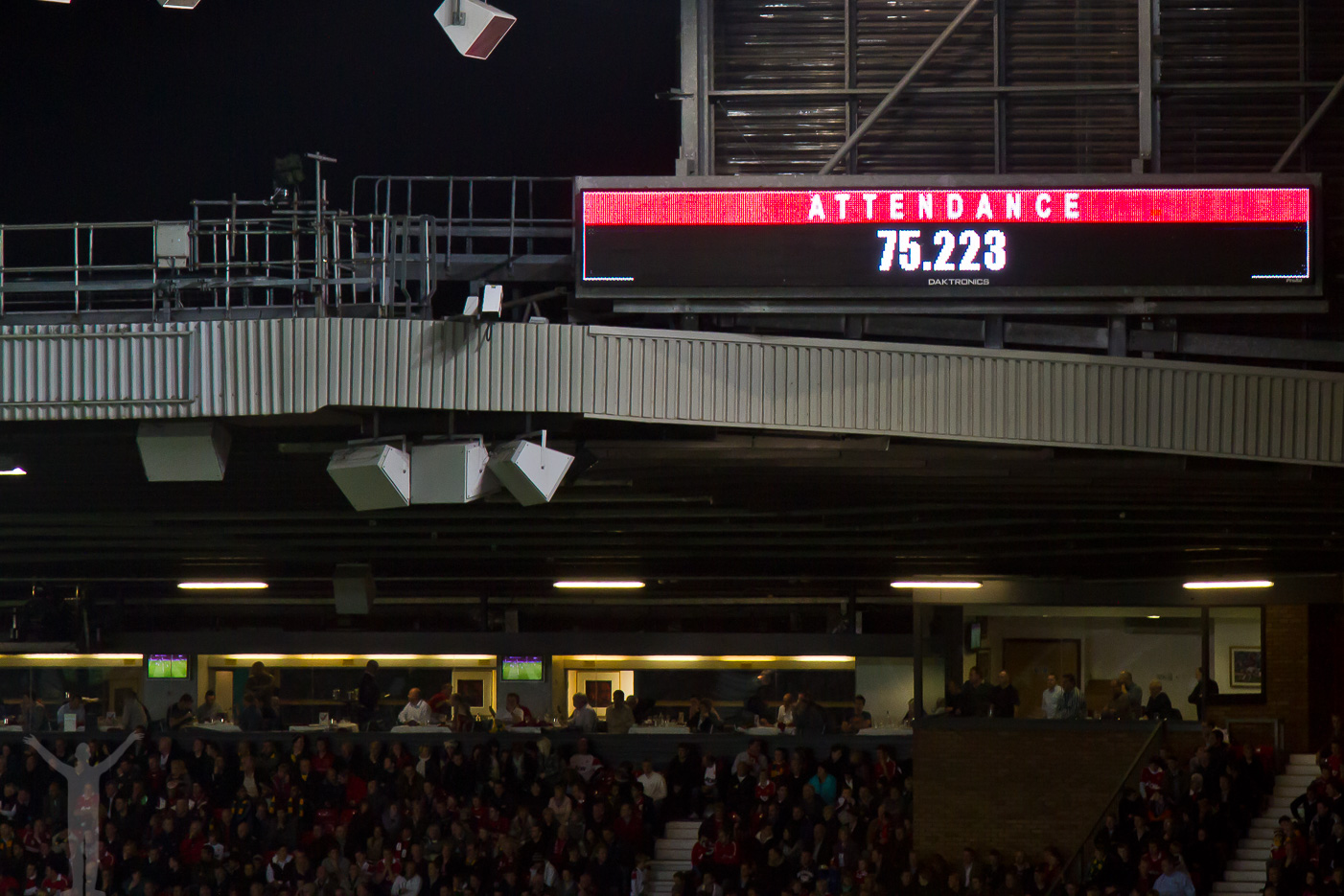 Publiksiffra på Old Trafford
