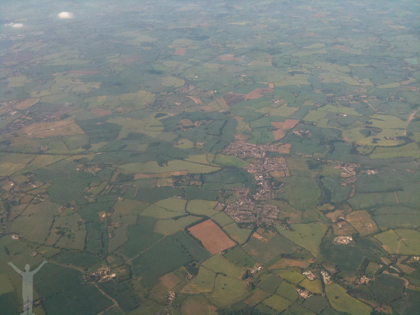 England från ovan