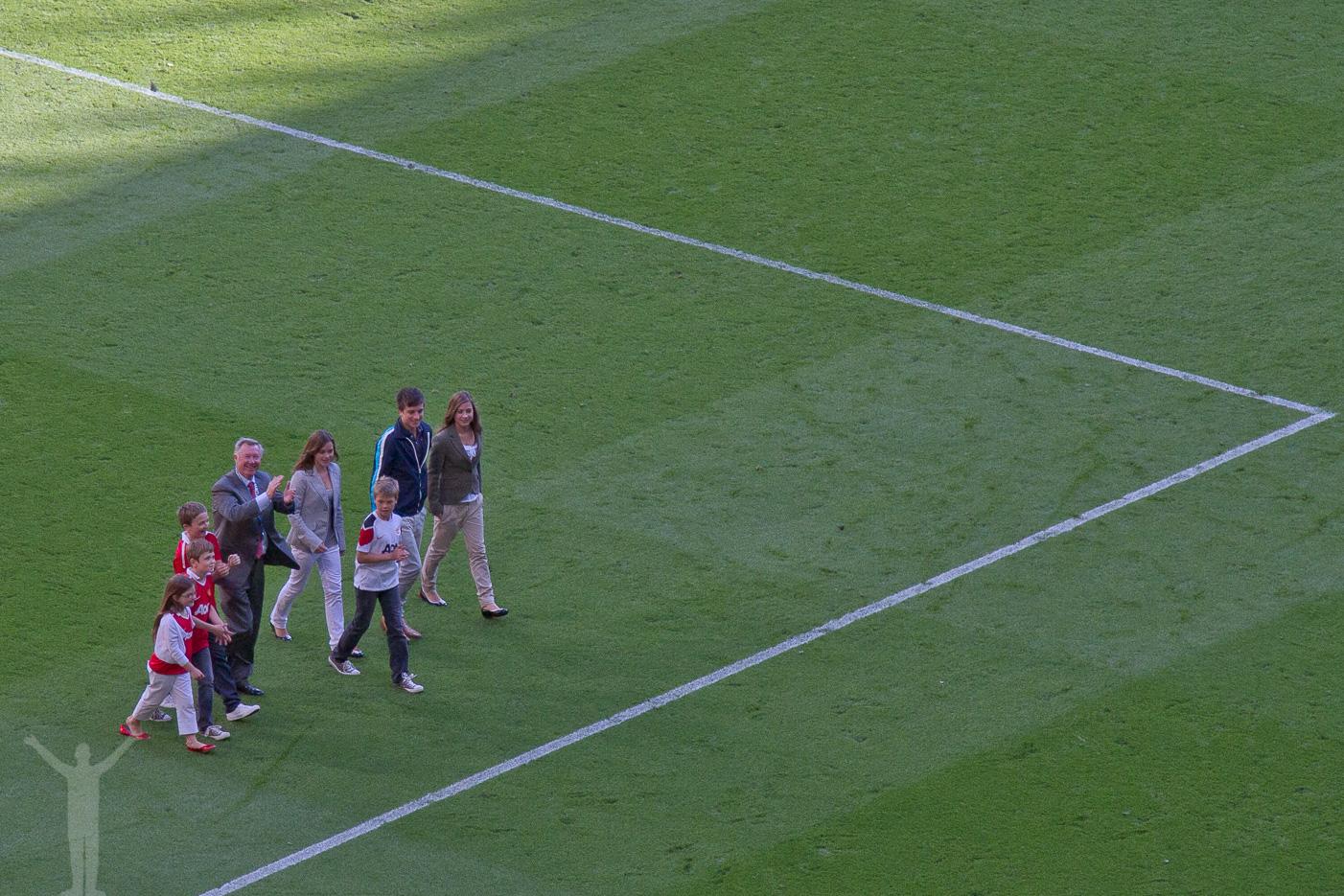Sir Alex tar ett ärevarv på Old Trafford