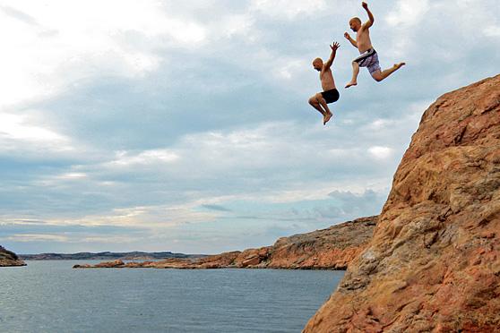 Från klipporna vi hoppade. Foto: C.Andréasson