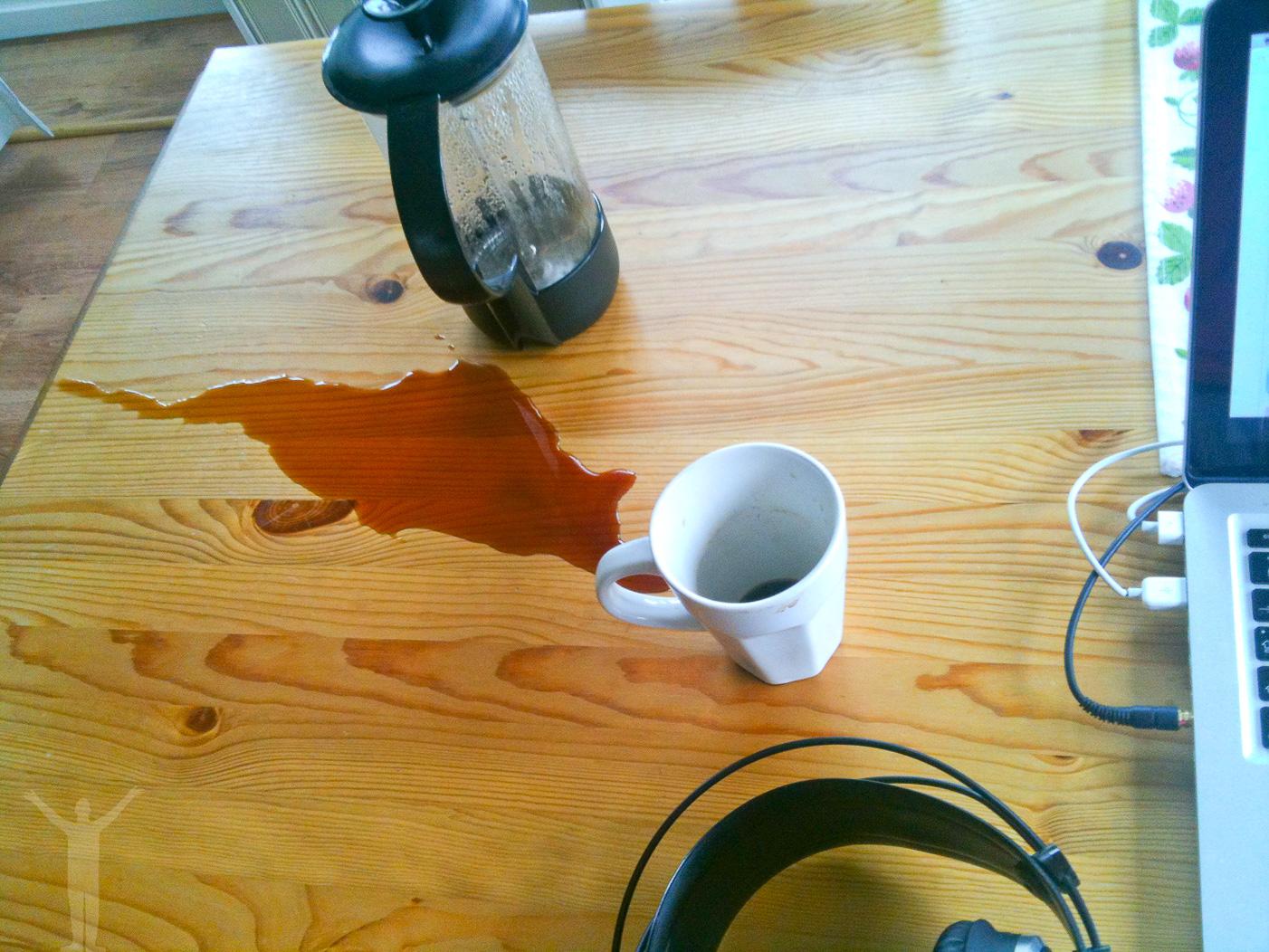 Gråt inte över spillt kaffe