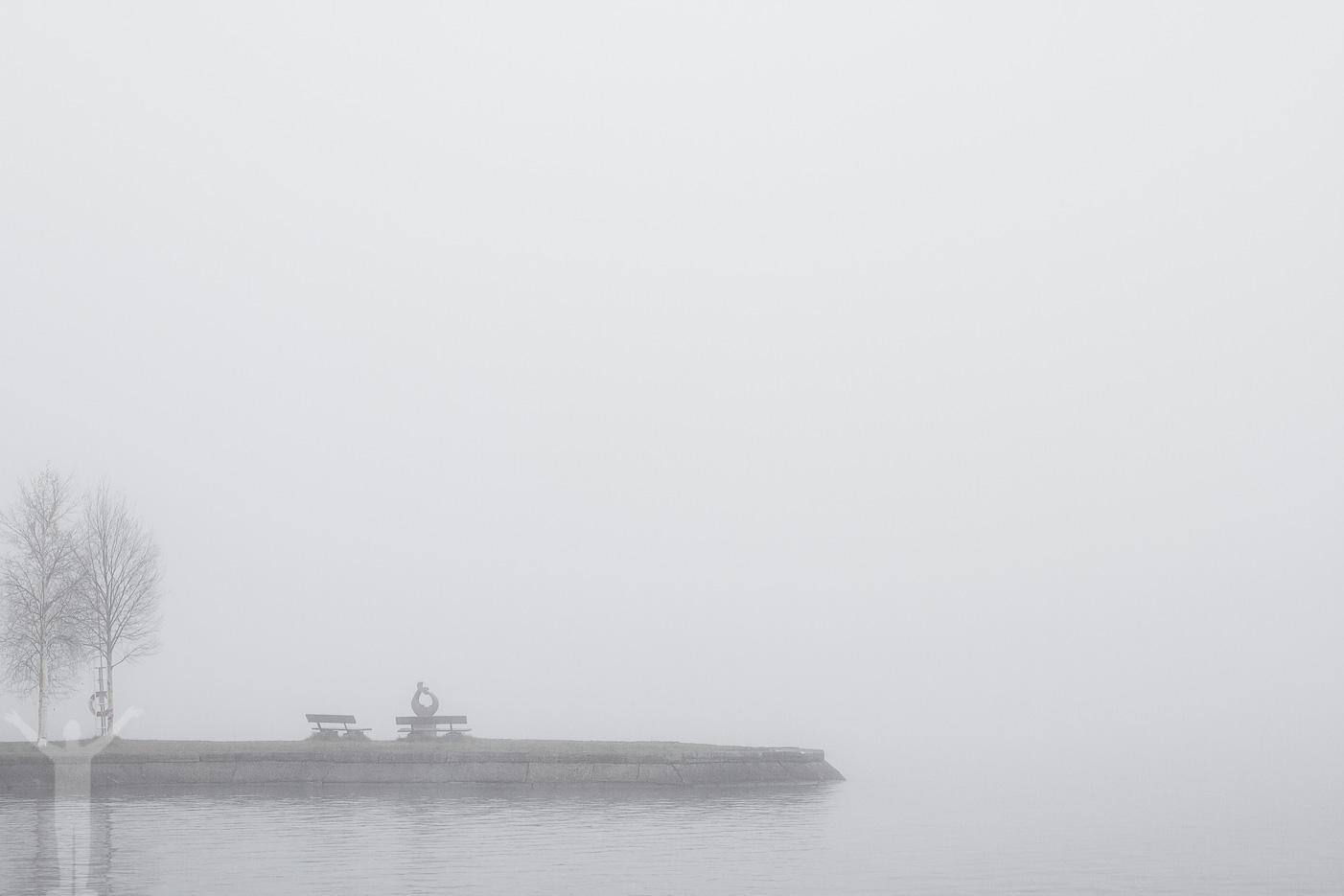 Storsjön i dimma