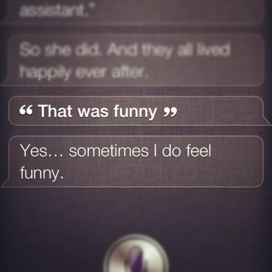 Siri drar gamla skämt.