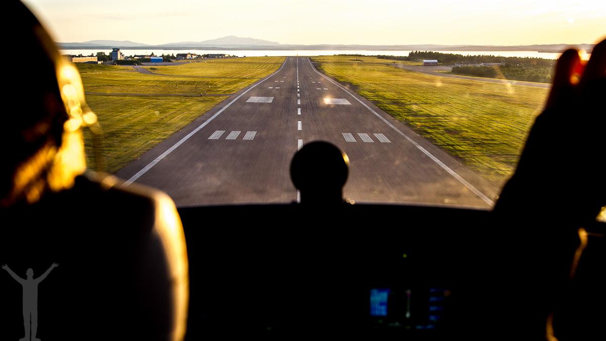 Studs-och-gå på Åre Östersund flygplats